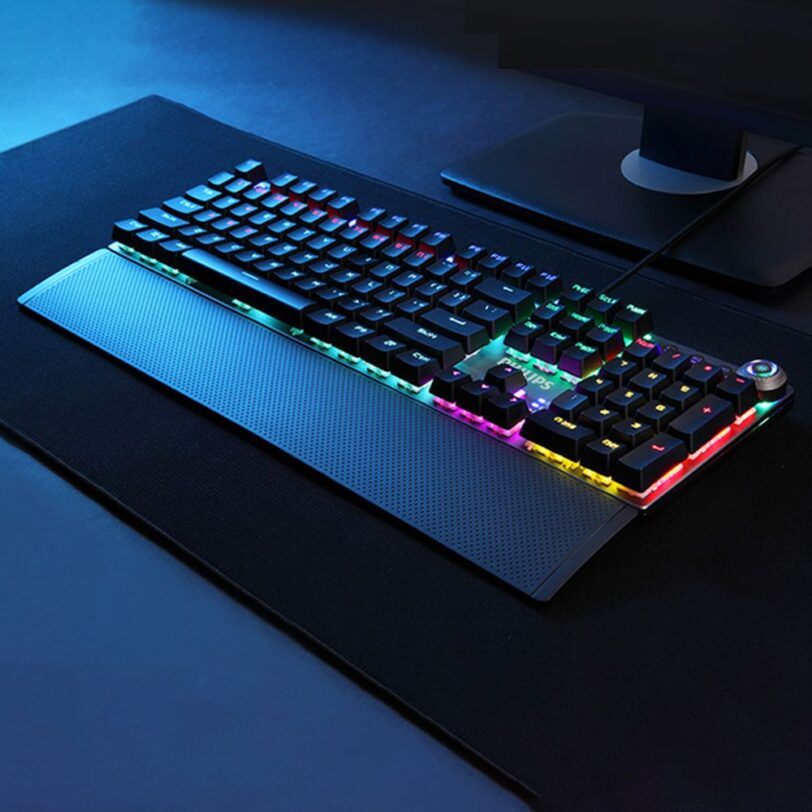 Philips SPK8614 Mechanical Gaming Keyboard with Wrist Rest Detail 12