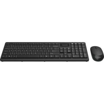 Philips SPT6314 Compact Wreless Keyboard and Mouse Black 01