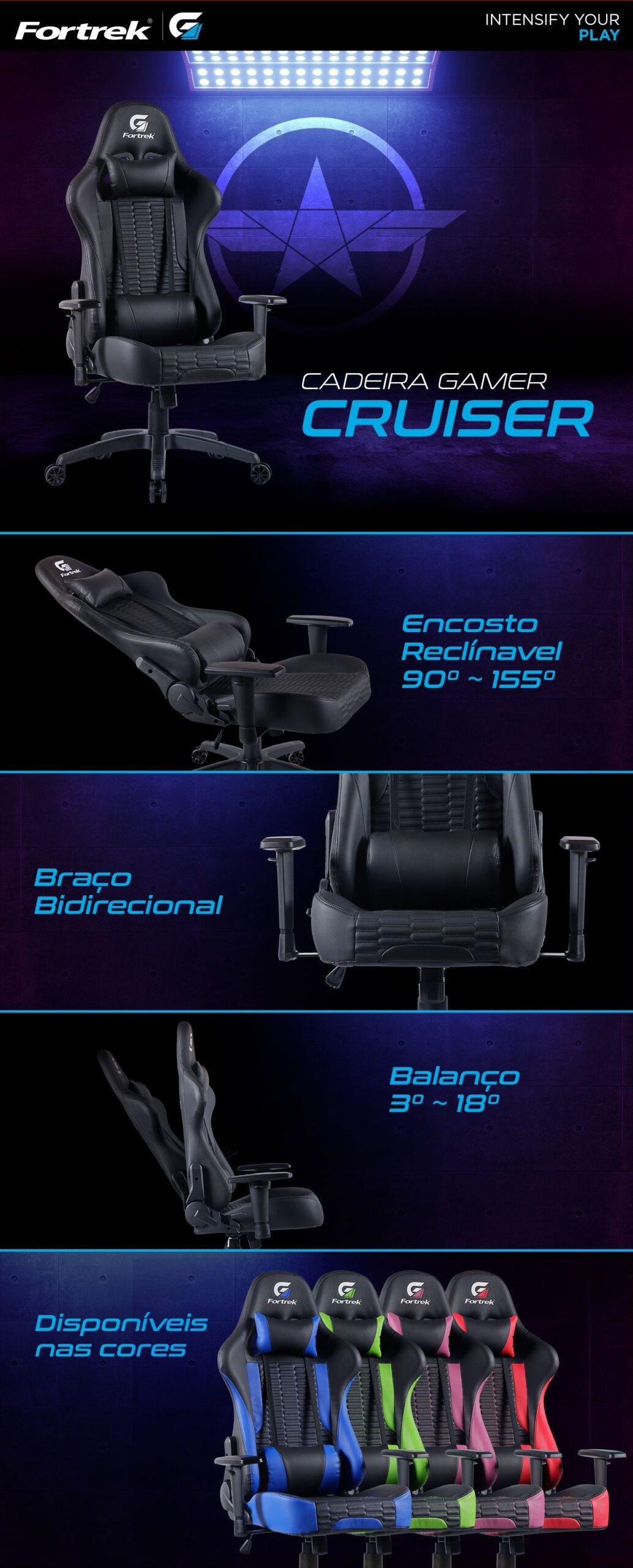Fortrek Cruiser Adjustable Gaming Chair Detail 02