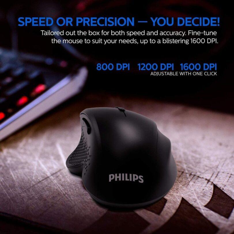 Philips SPK7624 Comfort Wireless Mouse Detail 02