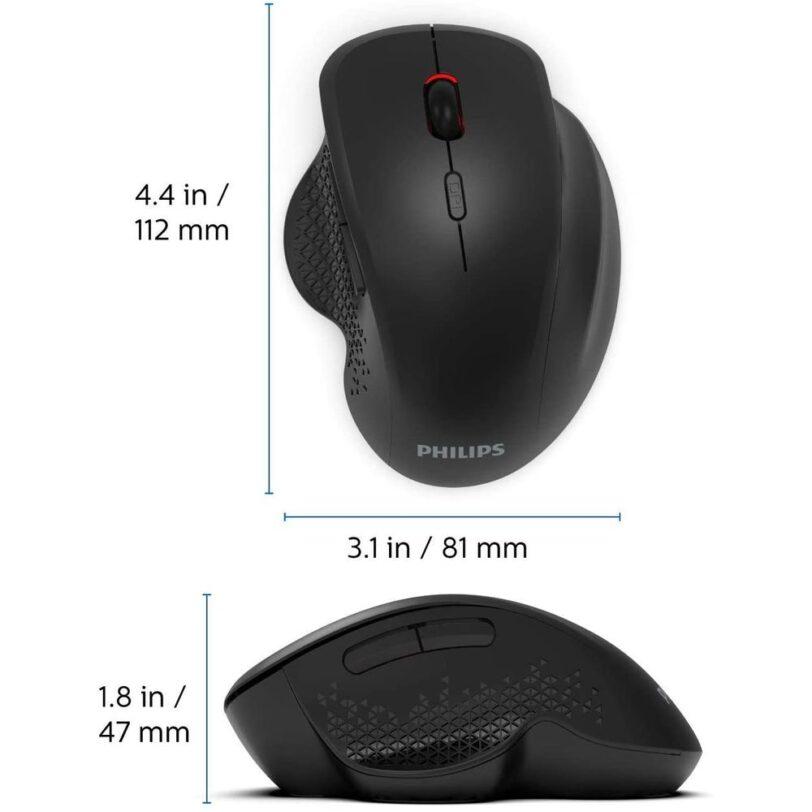 Philips SPK7624 Comfort Wireless Mouse Detail 04