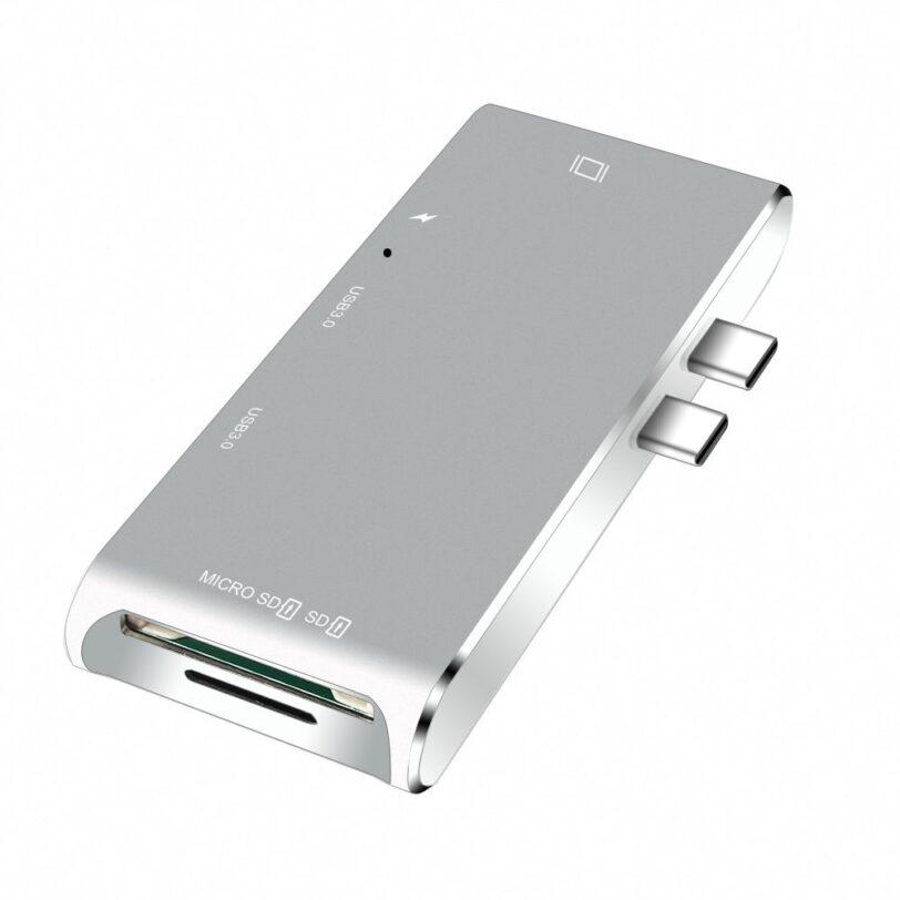 YC 204B 6 in 1 Type C MacBook Adapter 01