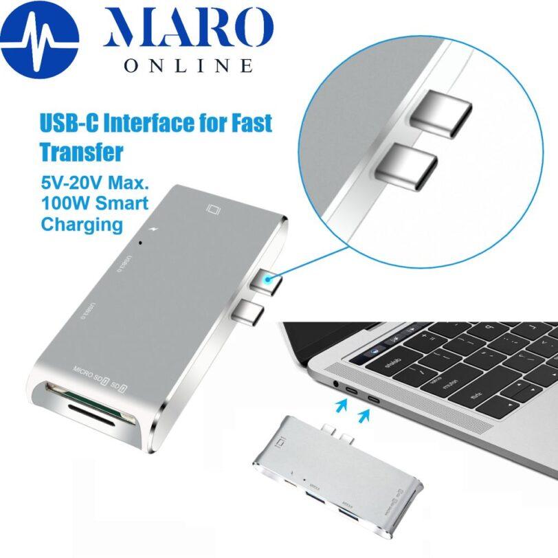 YC 204B 6 in 1 Type C MacBook Adapter Detail 03